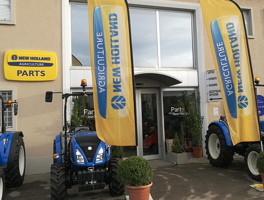 Entrata principale Agrimacchine, rivenditore trattori New Holland Arezzo