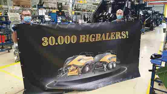 30000 Big Baler New Holland a Zedelgem